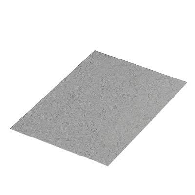 100 RENZ Kartonrückwand für Kunststoff- und Drahtbindegeräte / grau / Lederstruktur / 250 g/m² / DIN A4 21300064/0
