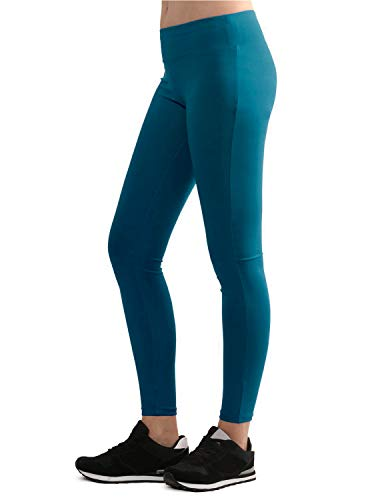 - Lock and Love LL WB962 Womens Tights Ankle Length Legging Pants M Teal