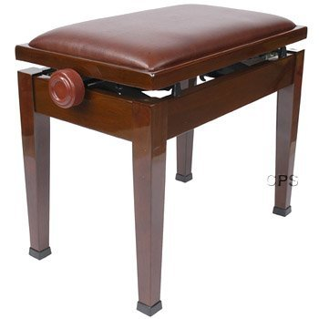 Adjustable Piano Bench with Quick Adjustment in Walnut by CPS Imports