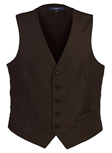 (Gioberti Mens 5 Button Formal Suit Vest, Brown, Medium)
