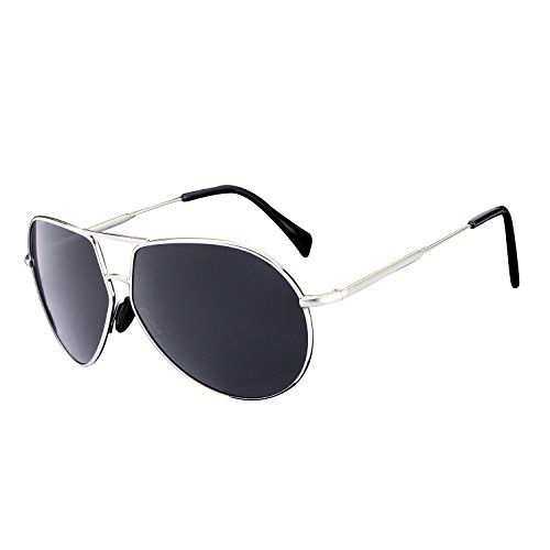 HDCRAFTER Men Retro Polarized Fashion Driver Sunglasses Metal - 150mm Sunglasses