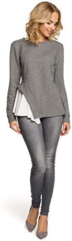 Made of Emotion Asymmetric Layered Blouse - Grey