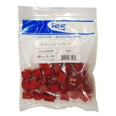 - ICC - IC107F6CRD - ICC Cat.6 Modular Connector - 25 Pack - 1 x RJ-45 - Gold-plated Contacts - Red