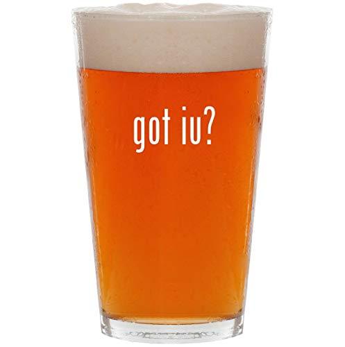 got iu? - 16oz Pint Beer Glass