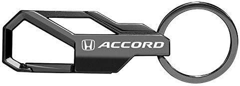 Snap Hook Metal Key Chain Black iPick Image Honda Accord Gunmetal Gray