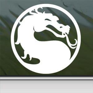 1 X Mortal Kombat Dragon White Sticker Decal Car Window Wall Macbook Notebook Laptop Sticker Decal
