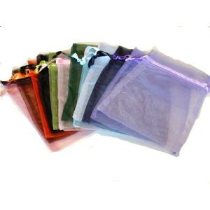 Leegoal Wedding Party Favor Satin Drawstring Organza Bags Pouch (Set of 50,Assorted (Organza Satin)
