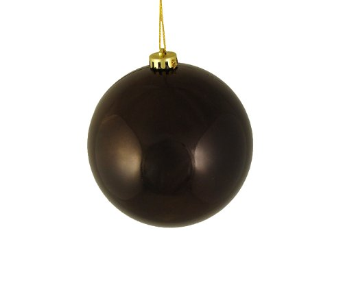 DAK Shiny Chocolate Brown Shatterproof Christmas Ball Ornament, -