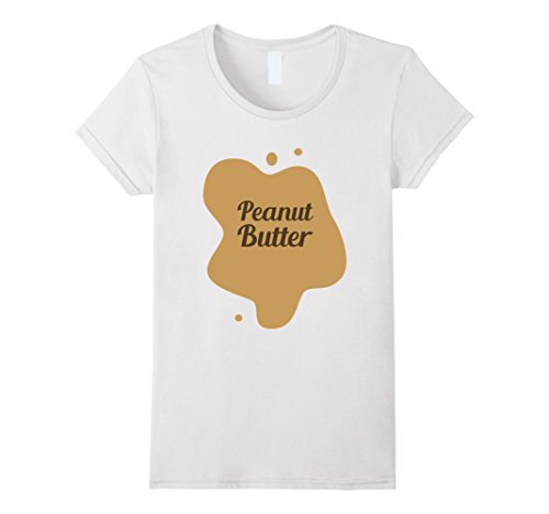 Peanut Butter And Jelly Sandwich Costumes (Women's Peanut Butter (And Jelly) Sandwich Toast Halloween Costume XL White)