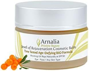 ARNALIA 100% Natural & Organic Wild Herbs, Eye&Face Cosmetic Skin Care Cream, Emollient, Anti Wrinkle, Anti Aging, Age Spot, Firming, Hydrating Balm, Collagen, Vitamin A,C,E,F Moisturizer, SPF 1.1oz