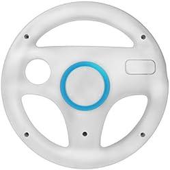 booEy Lenkrad Wheel für Nintendo WII und Wii U Mario Kart weiß
