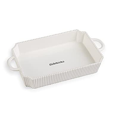 Mud Pie Circa Casserole Set, White