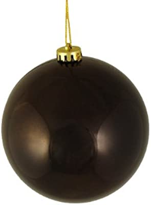 DAK Shiny Chocolate Brown Shatterproof Christmas Ball Ornament, 6""