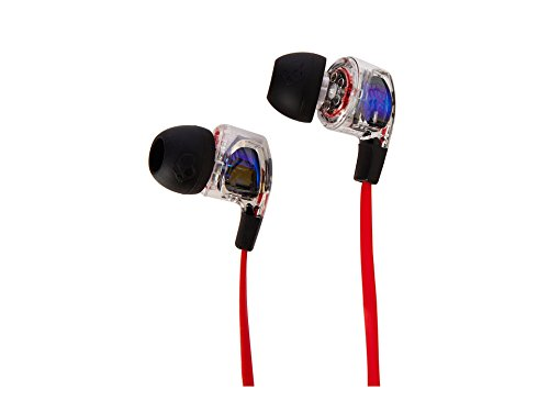 - Skullcandy Smokin' Buds 2 Noise Isolating Earbuds with In-Line Microphone and Remote, Moisture Resistant, Oval-Shaped and Angled for Long-Term Comfort, Spaced Out/Clear