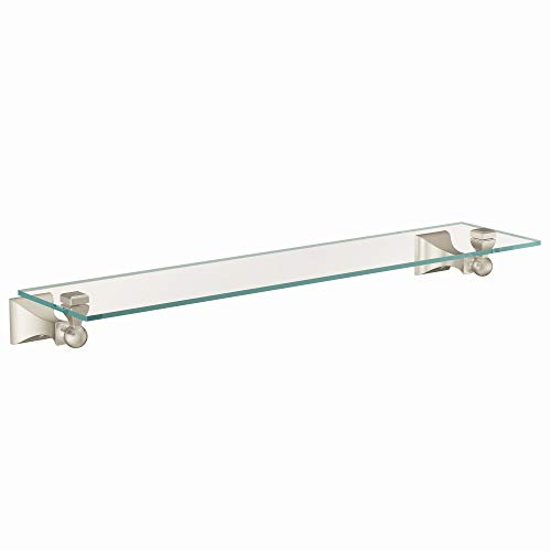 Moen DN8390BN Retreat Glass Shelf, Brushed Nickel (Brushed Shelf)