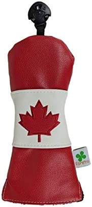 Foretra - Limited Edition Canada Flag Hybrid Headcover - Tour Quality Golf Club Cover - Style and Customize Yo