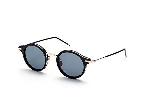 Sunglasses THOM BROWNE TB 807 A-T-BLK-GLD Matte Black12K Gold w/ Dark - Sunglasses Thom Browne
