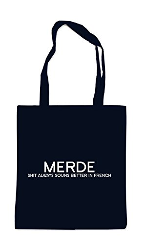 Merde - Shit Always Sounds Better... Bolsa Negro