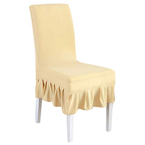 Drew Toby Chair Covers 1Pc Universal Size Slipcovers Stretch Removable Washable Pleated Skirt for Wedding Banquet Party Hotel seat Cover