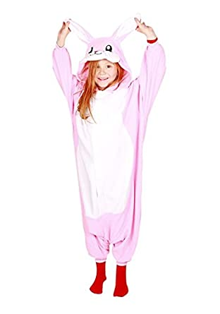 Kigu Boy's Rabbit Onesie, Pink, 6-8 Years (Manufacturer Size