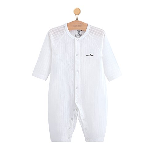 Unisex Baby Bodysuits Baby Girl Boy Clothes Toddler Infant Clothing (3-6 Months, White) by YOUQI