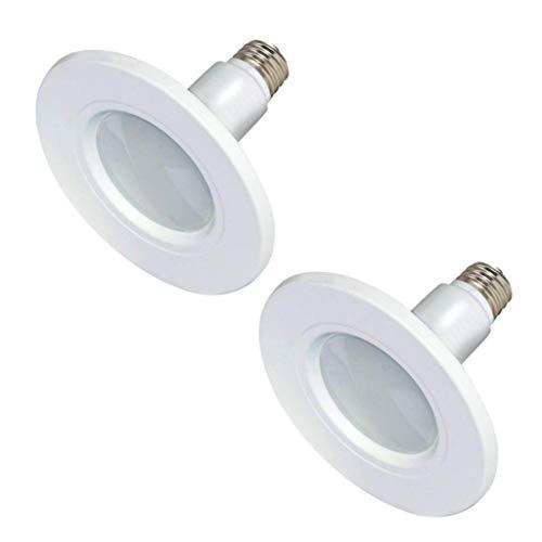 Satco S9599 LED LightBulb, 12W, 5-6' Trim, Downlight Retrofit, Long Life up to 25000 Hours, 2700 Kelvin Temp, Warm White Color, MOD 8-1/4', 6' MOL, Dimmable, Medium E26 Base, Pack of 2