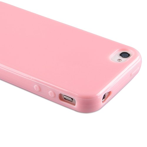 deinphone iPhone 44S Silicone Housse Rose