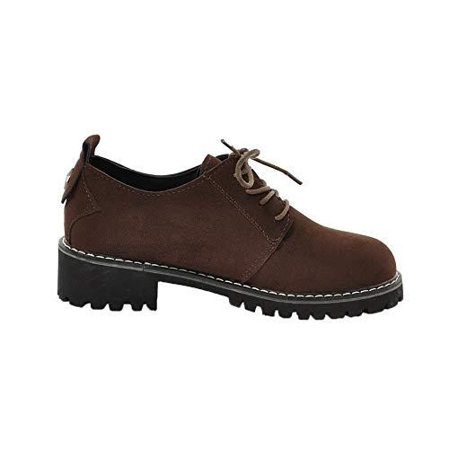 À Agoolar Lacet Unie Couleur Talon Gmbda010863 Légeres Chaussures Correct Kaki Femme ApprE
