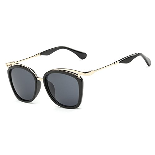LOMOL Womens Fashion Trendy Gradient Lens UV Protection Wayfarer Sunglasses(C1) (No Prescription Color Contacts)
