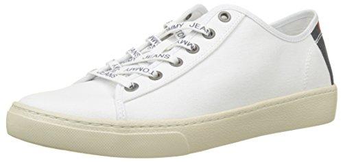 Blanco Hombre Textile Jeans Tommy Light white 100 Men Low Zapatillas Para U8w4Bqn
