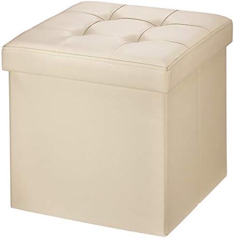 Denim 300 kg 30 cm x 30cm x 30cm BRIAN /& DANY Pouf Cubo Poggiapiedi Sgabello Contenitore Cassapanca Pieghevole Carico Max