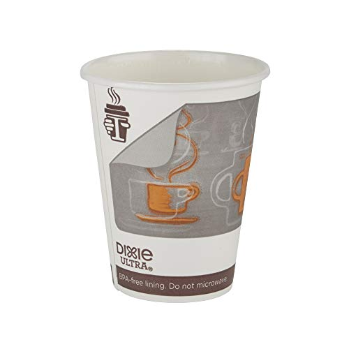 Dixie Ultra Insulair Insulated Paper Hot Cup by GP PRO (Georgia-Pacific), Small, 12 oz, 6342AR, 50 Cups Per Sleeve, 20 Sleeves Per Case (1,000 Count)