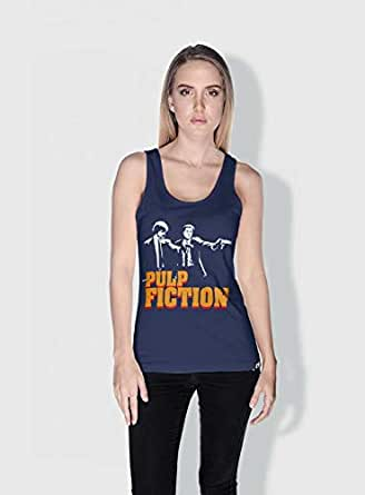 Creo Pulp Fiction Movie Posters Tanks Tops For Women - M, Blue