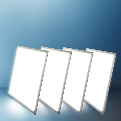 Grid Ceiling Light - 2x2 Panel Troffer Edge-Lit Flat (4 PACK) 24