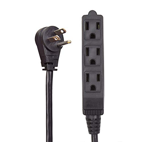extension cord black grounded - 8