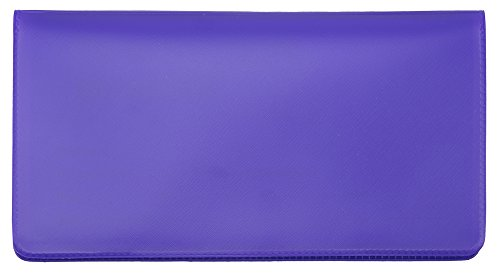 - Purple Vinyl Checkbook Cover