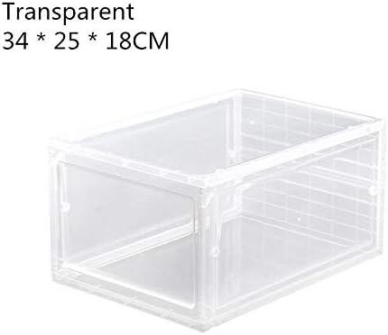 RUYU 1pcs plástico gaveta de Tipo Caja de Zapatos Caja Transparente for los Zapatos de Zapatos Cajas de almacenaje del Zapato del Organizador del almacenaje (Color : Green): Amazon.es: Hogar