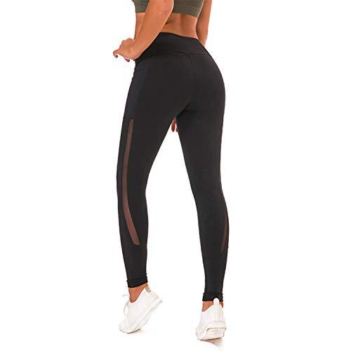 Diario Black Cjjc Pantalón Yoga Elástico Simple Damas Mujer Color Para Puro Pantalones Fitness Running Uso Niñas Transpirable Medias Cintura De Alta WHxBgnrWp
