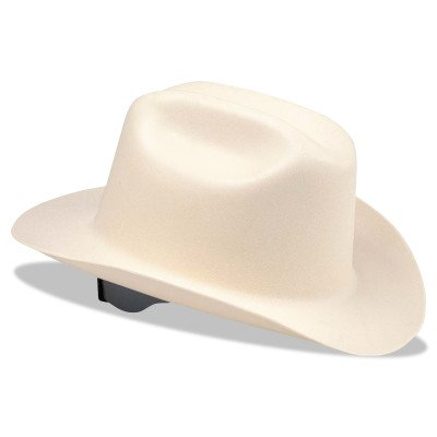 Jackson Safety 19500 WESTERN OUTLAW Hard Hats, 4 Point Ratchet, White