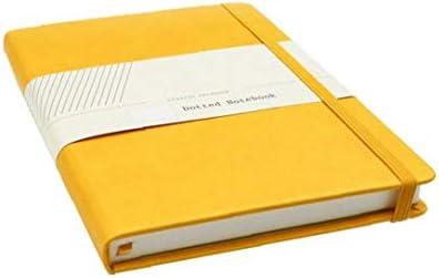 Creative-Notebooks Taschenbuch Blank Business Office Notebook mit Gurt Minimalism Design Band Lesezeichen Notebooks Gelb 1pc
