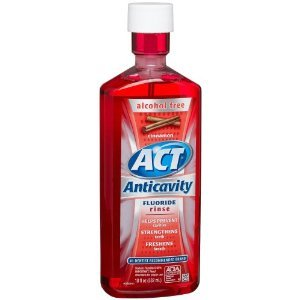 Act Anticavity Fluoride Rinse Cinnamon Alcohol Free 18 oz...