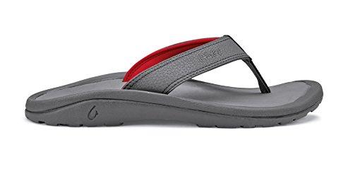Olukai Ohana Mens Flip Flops Charcoal / Charcoal - 12