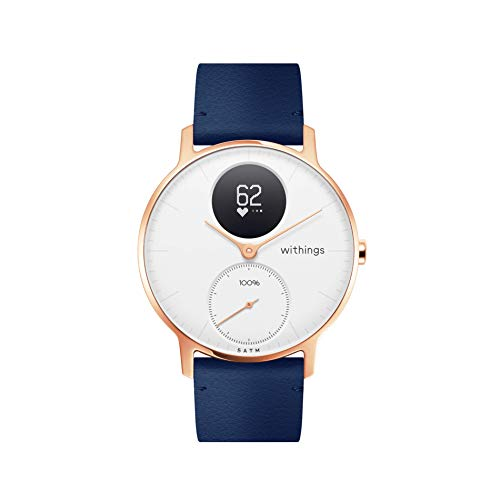 Withings | Steel HR Hybrid Smartwatch - Activity Tracker with Connected GPS, Heart Rate Monitor, Sleep Monitor, Smart Notifications, Water Resistant with 25-Day Battery Life