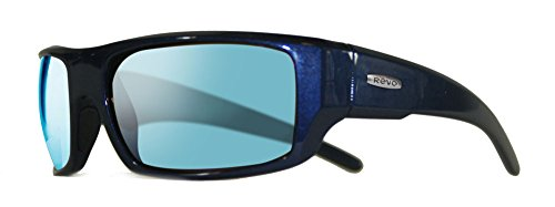 Revo Re 5006x Dash Wraparound Polarized Wrap Sunglasses, Crystal Blue Blue Water, 60 - Sunglasses Re