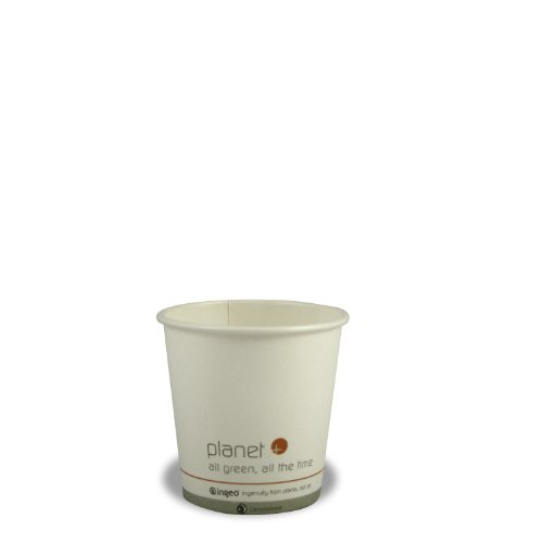 Planet + 100% Compostable PLA Laminated Hot Cup, 4-Ounce, 1000-Count Case ()