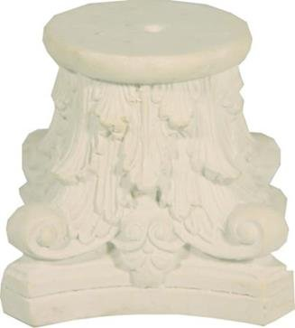 Unbekannt Miniatur Modell Zubehör Sockel mit Blätterornament Höhe 4cm Zisaline