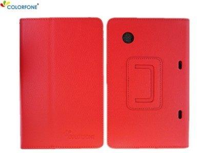 Unbekannt Borsa business Smart Cover per HTC Flyer 7 Tablet in Rosso pieghevole di sicurezza nobile Cover Set