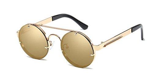 rond retro en métallique vintage Lennon style polarisées inspirées de soleil cercle Or Local lunettes du xzZwqUY7Sx