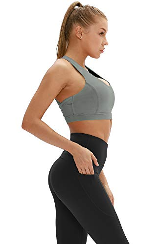 icyzone Workout Sports Bras for Women - Fitness Athletic Exercise Running Bra, Activewear Yoga Tops