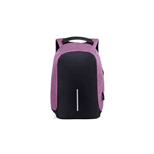 (Waterproof USB Charging Anti-Theft Bag Multi-Function Unisex Business Computer Backpack for Teenager,Purple)